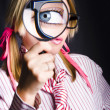 Inquisitive Nerd Searching for Information — Stock Photo
