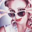 Stock Photo: Fifties Glamor Girl Wearing Retro Pin-up Fashion
