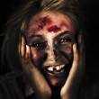 Good Mourning. Face Of A Zombie Apocalypse - Stock Photo