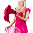 Royalty-Free Stock Photo: Woman with laundry basket