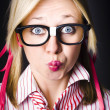 Stock Photo: Surprised business womwith thinking expression