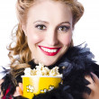Portrait of womwith popcorn — Stock Photo #23194138