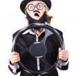 图库照片: Defensive driving learner