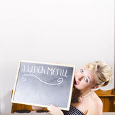 Lunch time menu — Stock Photo