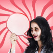 Stock Photo: Psychodelic zombie with halloween communication