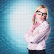 Royalty-Free Stock Photo: Innovative marketing woman looking at copyspace