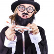 Royalty-Free Stock Photo: Crazy terrorist hijacking passenger jet plane