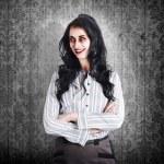 porträtt av en säker död affärskvinna — Stockfoto