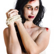 Zombie tied up - Stock Photo