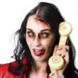 Stock Photo: Bad news phone call