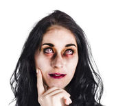 Thoughtful zombie — Stock Photo