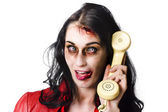 Bad news phone call — Stock Photo