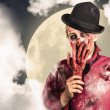 Full moon on a scary halloween night — Stock Photo #26139095