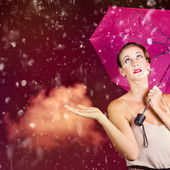 Retro fashion storm — Stock Photo