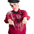 Stock Photo: Walking dead zombie woman