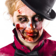Smiling zombie woman — Stock Photo