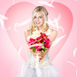 Beloved flower girl. Be my valentine — Stock Photo