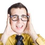 Businessman with headache — Stock Photo