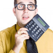 Finance businessman with calculator — Stockfoto