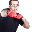 Man with boxing gloves — Stockfoto