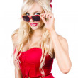 Attractive young blonde womin cool eyewear — Stock Photo #26191237