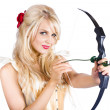 Blond woman with cupid bow — Stock Photo