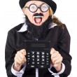 Stock Photo: Womwith electronic calculator