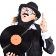Woman disc jockey — Stock Photo