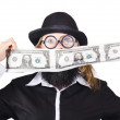 Woman making crazy money — Stock Photo