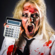 Finance tax accountant. Return from the dead — Stock Photo