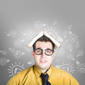 Businessman with new education idea — Stockfoto