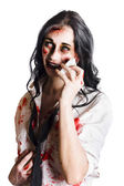 Zombie woman distressed — Stock Photo