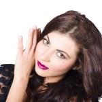 Face of a beautiful woman. Perfect beauty makeup — Stock Photo