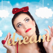 Inspire to create. Pinup your dreams to the sky — Stock Photo