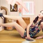 Retro pinup girl. Fashion choice for vintage women — Stock Photo #28561045