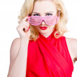 Stock Photo: Funky summer fashion portrait. Girl in sunglasses