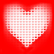 Stock Photo: Love of valentines background. Big red heart