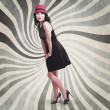 Stock Photo: Beautiful asian woman posing. Vintage style