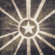Stock Photo: Vintage military star background