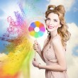 Hair and makeup coloring concept — Stock Photo #30083571