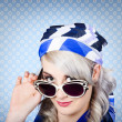 Fashion portrait of girl in fifties sunglasses — Stock Photo #30135803