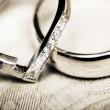 White gold wedding rings — Stock Photo