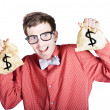 Accountant with tax return — Stock Photo