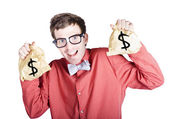 Accountant with tax return — Stockfoto