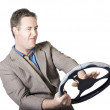 Frustrated Businessman Driving — Stock Photo