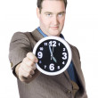 Businessman Showing Clock — Stock Photo