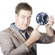 Businessman Showing Time — Stock Photo