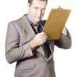 Businessman Holding Clipboard — Foto de Stock