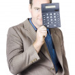 Businessman Holding Calculator — Stock Photo #31746497