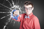 Intelligent young man with good idea — Stockfoto